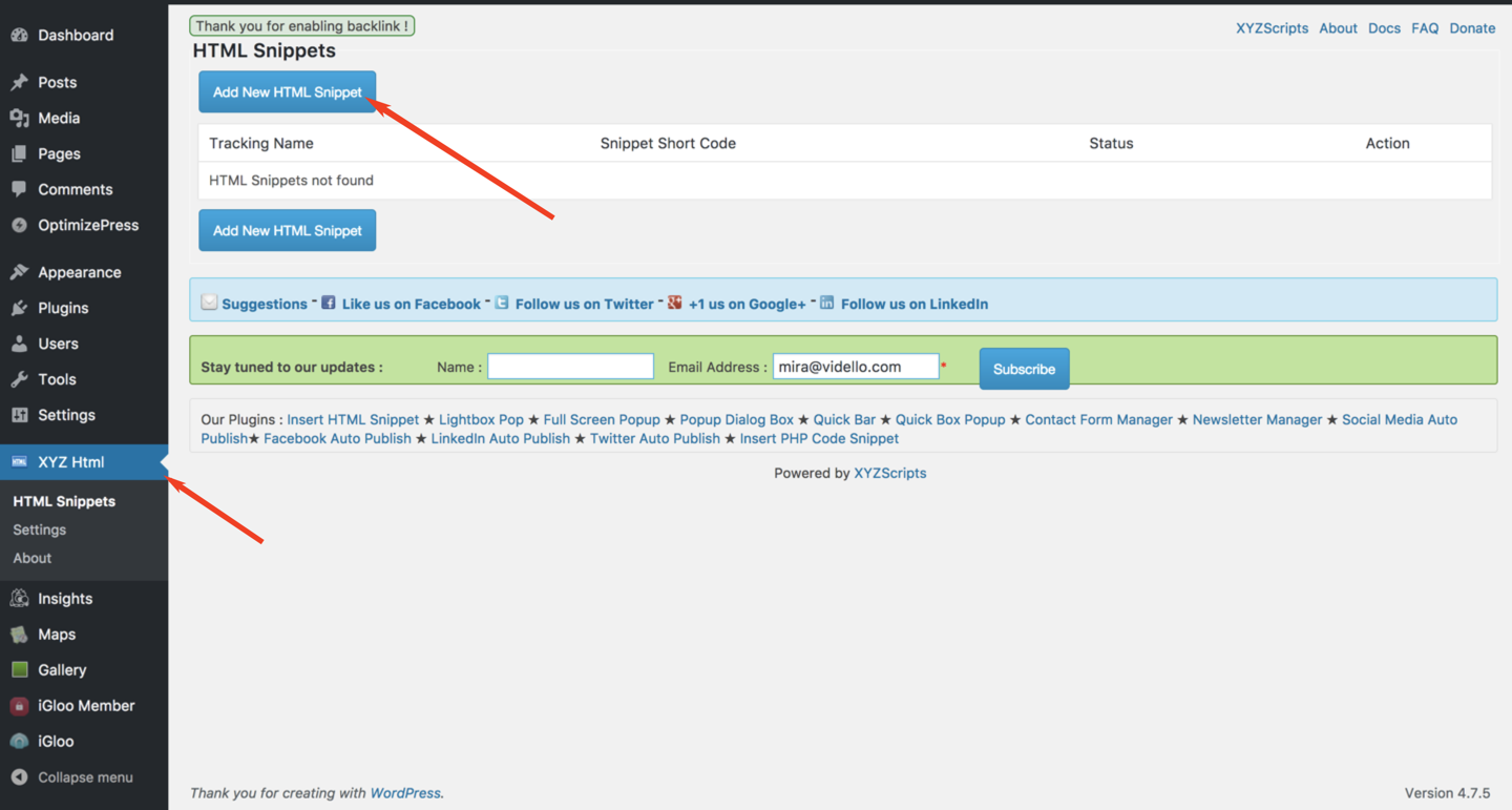 VIDELLO - A/B Split Test Embed Code Does Not Work In